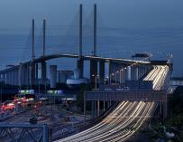 Imagen de la autopista Dartford Crossing (Reino Unido) gestionada por Abertis.