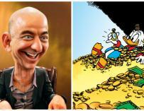 Jeff Bezos y el Tío Gilito / DonkeyHotey, Disney