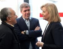 Fátima Báñez, Unai Sordo y Pepe Álvarez.
