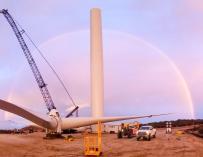 Imagen de una instalación de Avangrid Renewables, filial de Iberdrola