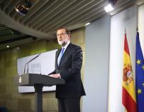 Rajoy durante su comparecencia