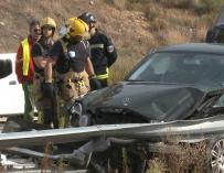 Un fallecido y 15 heridos por colisión múltiple en Cáceres