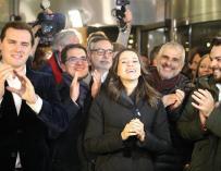 Fotografía de Inés Arrimadas, de Ciudadanos, que gana las elecciones