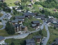 Fotografía de la ciudad de Albinen en Suiza.