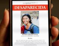 Fotografía de Nathaly Salazar, desparecida en Perú.