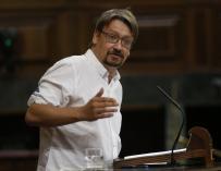 """Domènech ve intervenciones del Estado """"que casi son de guerra preventiva"""" para evitar el 1-O"""