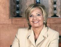 María Teresa Campos sonriendo por sus vertiginosas audiencias de 'Día a día'.