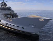 Fotografía del Caronte, el navío inspirado en un barco pirata.