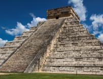 Fotografía de uno de los monumentos del Imperio azteca.