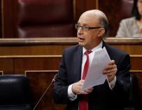 El ministro de Hacienda, Cristóbal Montoro, 22 de noviembre de 2017