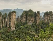 Fotografía del parque nacional Zhangiajie en China.