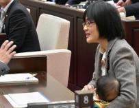 La asambleísta Yuka Ogata