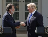 Rajoy y Trump en la Casa Blanca.