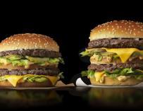 Imagen de hamburguesas de McDonald's.