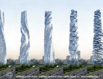 Primer rascacielos giratorio