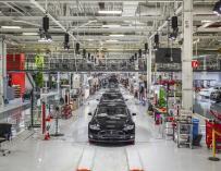 Fotografía de la Factoría de Tesla en Fremont