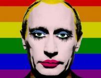 Vladimir Putin prohíbe la difusión de un meme en que aparece como un payaso gay