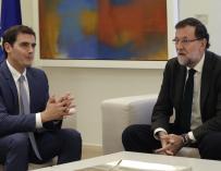 Albert Rivera y Mariano Rajoy en La Moncloa.