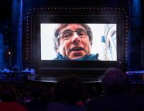 El expresident Carles Puigdemont en videoconferencia en la gala de los X Premios Gaudí