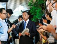 Taro Aso, ministro de Finanzas de Japón.