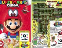Fotografía de los cereales de Mario Bros.