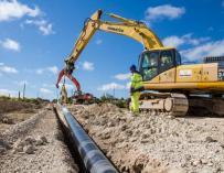 Trabajos de Redexis para extender la red de gas.