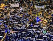 Forcadell 'abandona' a los Jordis en la multitudinaria marcha de ANC y Omnium