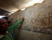 Egipto confirma el hallazgo de la tumba de Hat Bet, de 4.000 años de antigüedad (Foto: EFE).