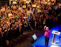 """Merkel pide el voto para """"una Alemania fuerte y respetada en Europa"""""""
