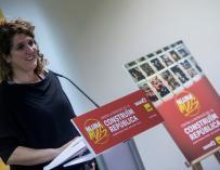 La portavoz del secretariado nacional de la CUP, Núria Gibert