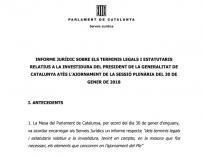Informe de los servicios jurídicos del Parlament