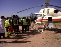 Un logroñés de 59 años, herido grave tras sufrir un accidente laboral en Funes