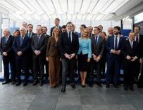 Imagen de Mariano Rajoy con los barones del PP
