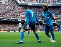 Cr7 y Marcelo, los mejores del partido