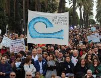 Los manifestantes han iniciado el recorrido en la plaza de España y han avanzado hasta llegar delante del Consolat de Mar (EP)