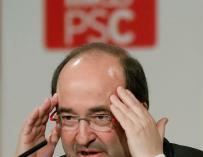 El candidato del PSC a la presidencia de la Generalitat, Miquel Iceta (EFE)