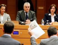 Luis Bárcenas durante la comisión de investigación de Les Corts Valencianes