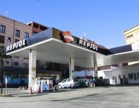 Estación de servicio de Repsol.