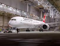 El nuevo Airbus 787-9 de la aerolínea Qantas, que permite realizar vuelos ultralargos / Qantas
