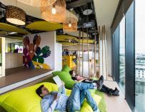 Ambientes de una oficina de Google