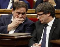 Fotografía de Junqueras y Puigdemont