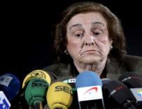 Teresa Rivero durante una rueda de prensa / EFE.