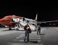 Fotografía de un avión de la compañía Norwegian.