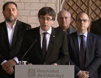 Puigdemont, Junqueras, Turull y otros miembros de su Gobierno el pasado octubre.