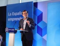 Rajoy en el acto bajo el lema 'La España emprendedora'