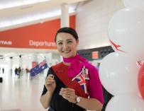Más de 200 pasajeros volaron desde Perth a Londres (Foto: Qantas)