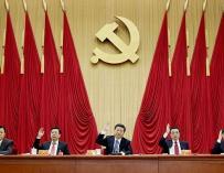 Foto de archivo de Xi Jinping durante una reunión del PCCh/ AFP