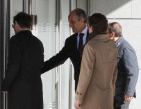 Francisco Camps a su llegada para comparecer como testigo en el juicio de Gürtel