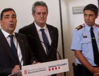 Pere Soler, Joaquim Forn y Josep Lluís Trapero