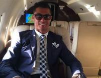 Imagen de Cristiano Ronaldo en su avión.